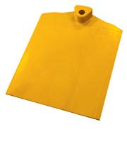 Rechthoekige voet met aan 1 zijde gegolfd verzwaard d.m.v. stalen plaat geel