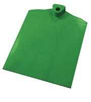 Rechthoekige voet met aan 1 zijde gegolfd verzwaard d.m.v. stalen plaat groen