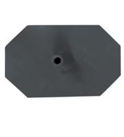 Octagon voet 8 zijdig zwart