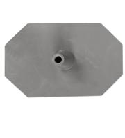 Octagon voet 8 zijdig grijs