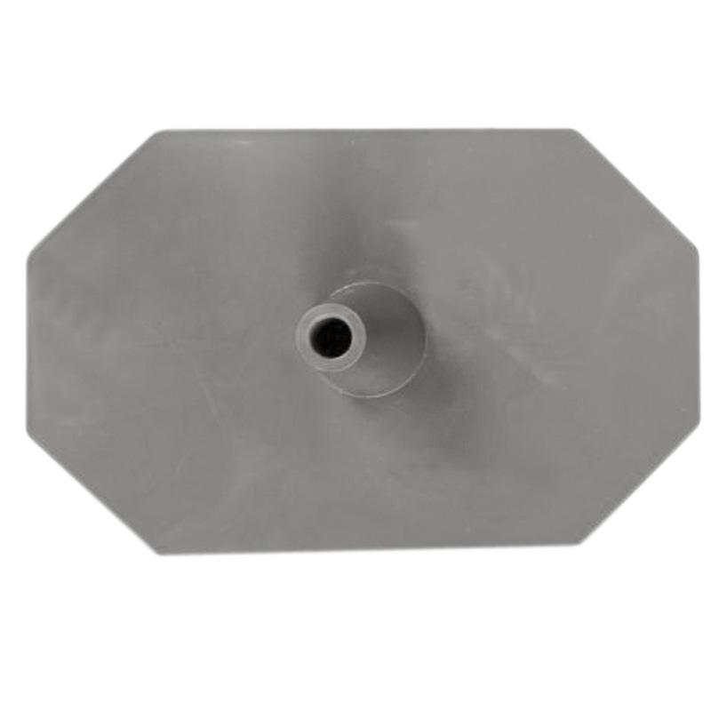 Kunststoff-Fuss (Hexagon) grau