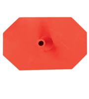 Octagon voet 8 zijdig rood
