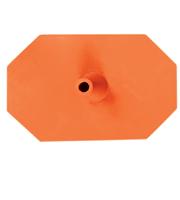 Octagon voet 8 zijdig oranje