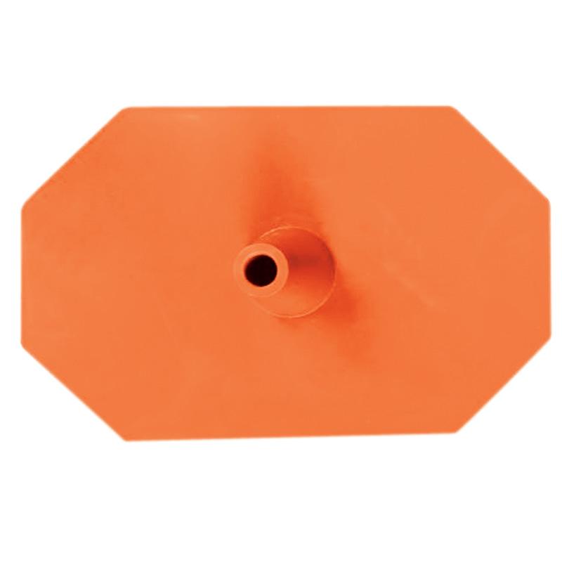 Kunststoff-Fuss (Hexagon) orange