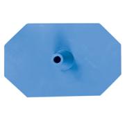 Octagon voet 8 zijdig blauw