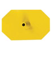 Octagon voet 8 zijdig geel