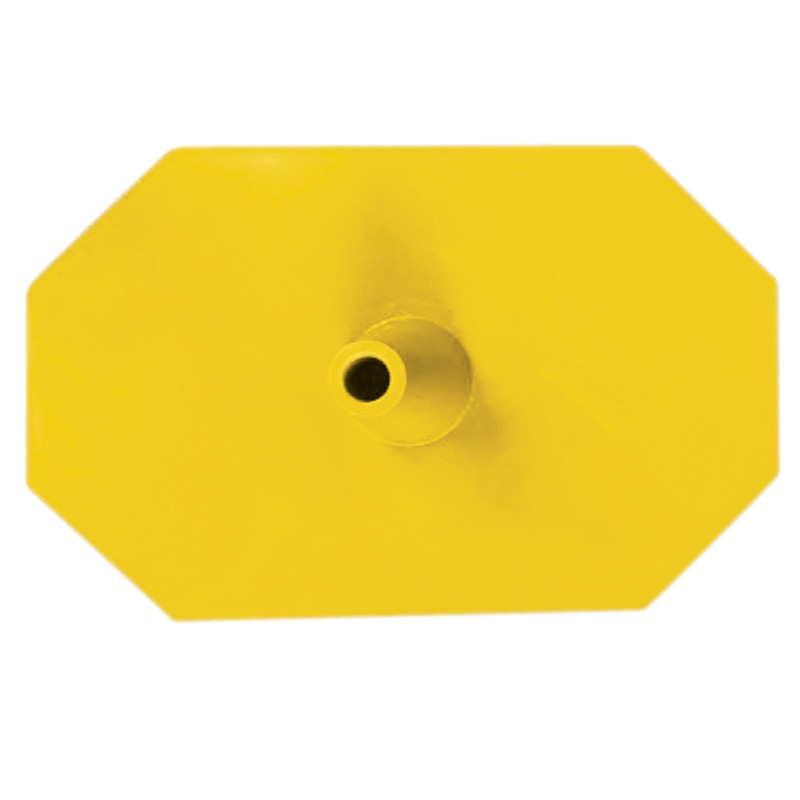 Plastic leg (hexagon) yellow