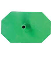 Octagon voet 8 zijdig groen