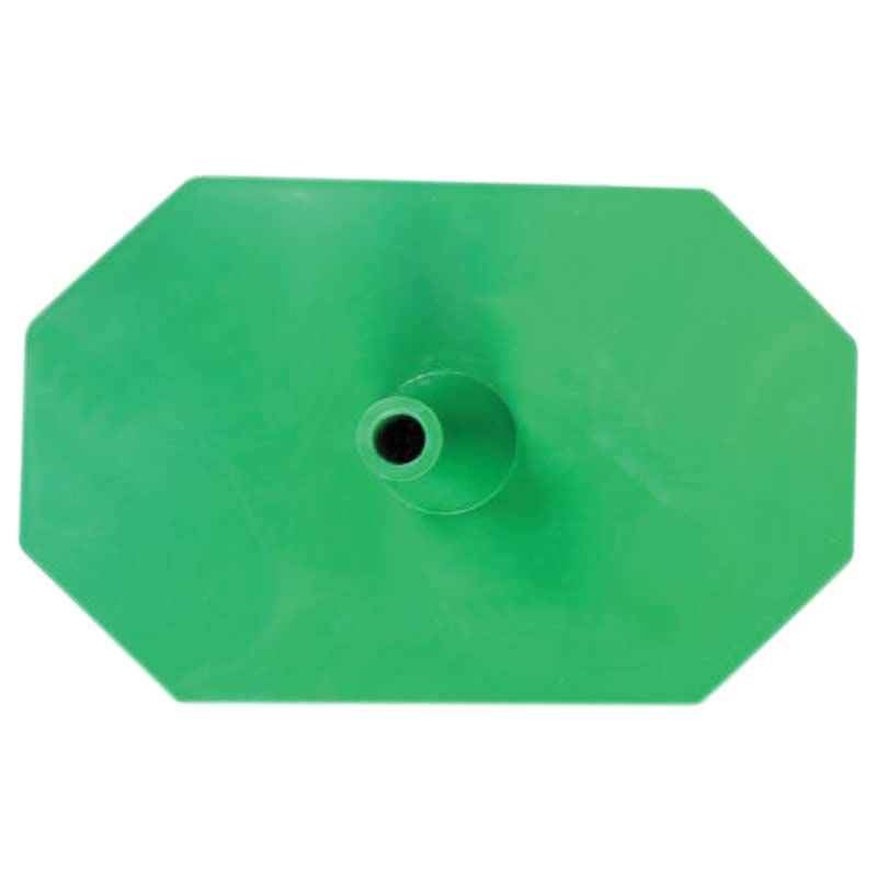 Plastic leg (hexagon) green