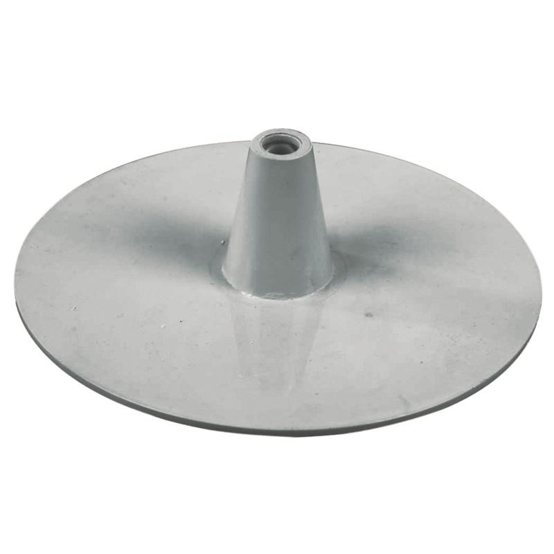 Kunststoff-Kreis Fuss grau