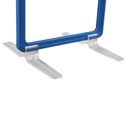 Transparante voetclip voor presentatie frame