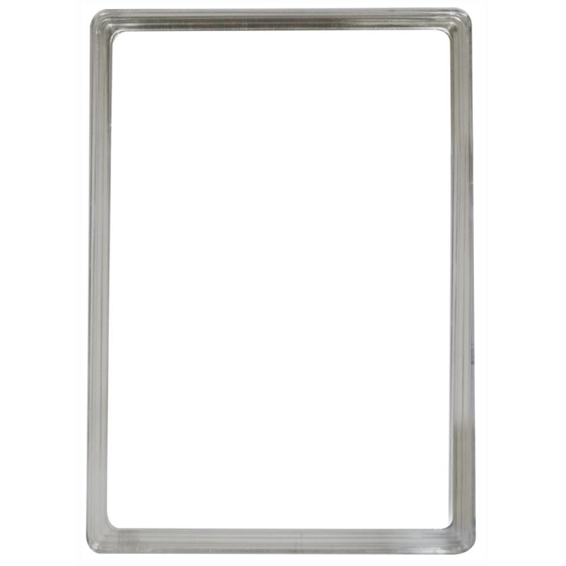 Display-Rahmen ohne PVC-Folie A4 transparent