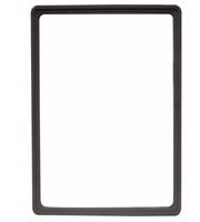 Presentatie raam A4 inschuif zonder sheets 210 x 297 mm zwart
