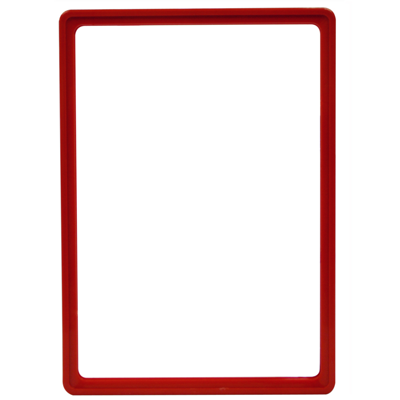 Display frame without pvc sheet A4 red