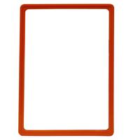 Presentatie raam A4 inschuif zonder sheets 210 x 297 mm oranje