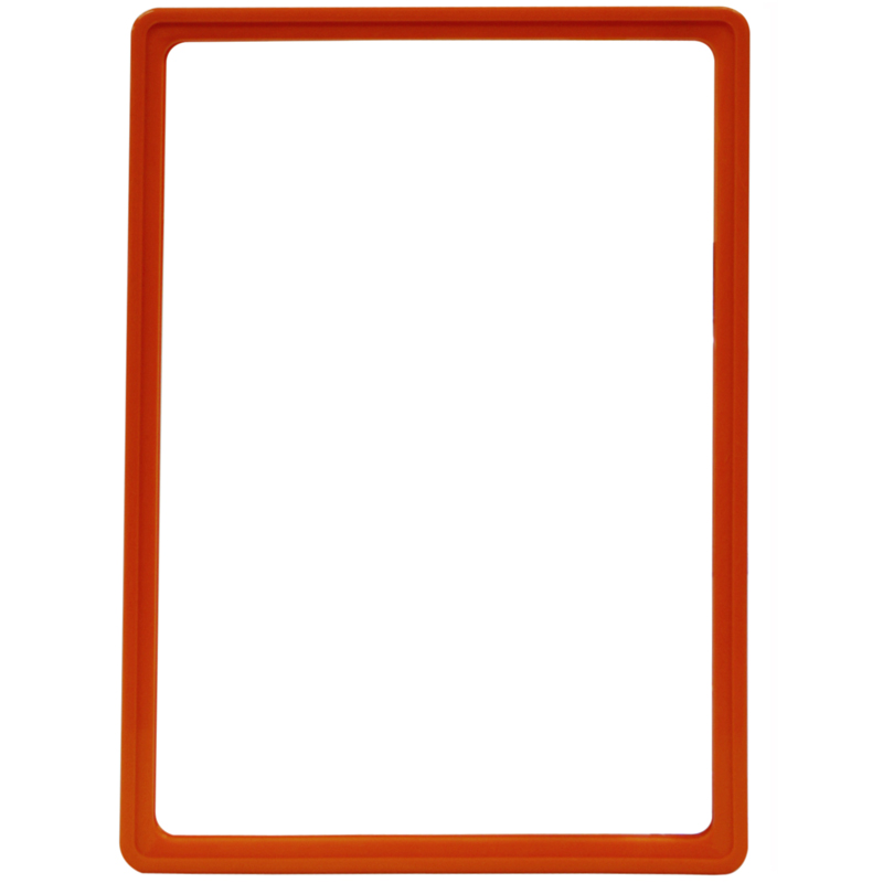 Display frame without pvc sheet A4 orange