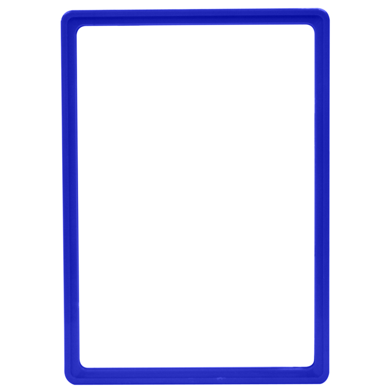 Display frame without pvc sheet A4 blue