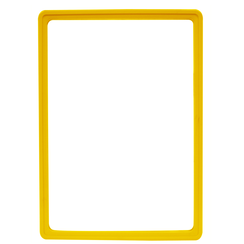 Display frame without pvc sheet A4 yellow