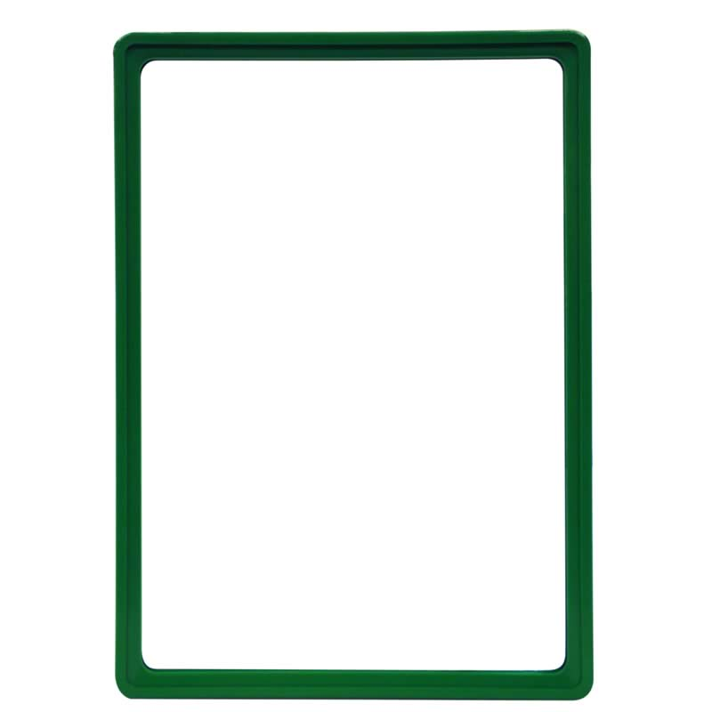 Display frame without pvc sheet A4 green