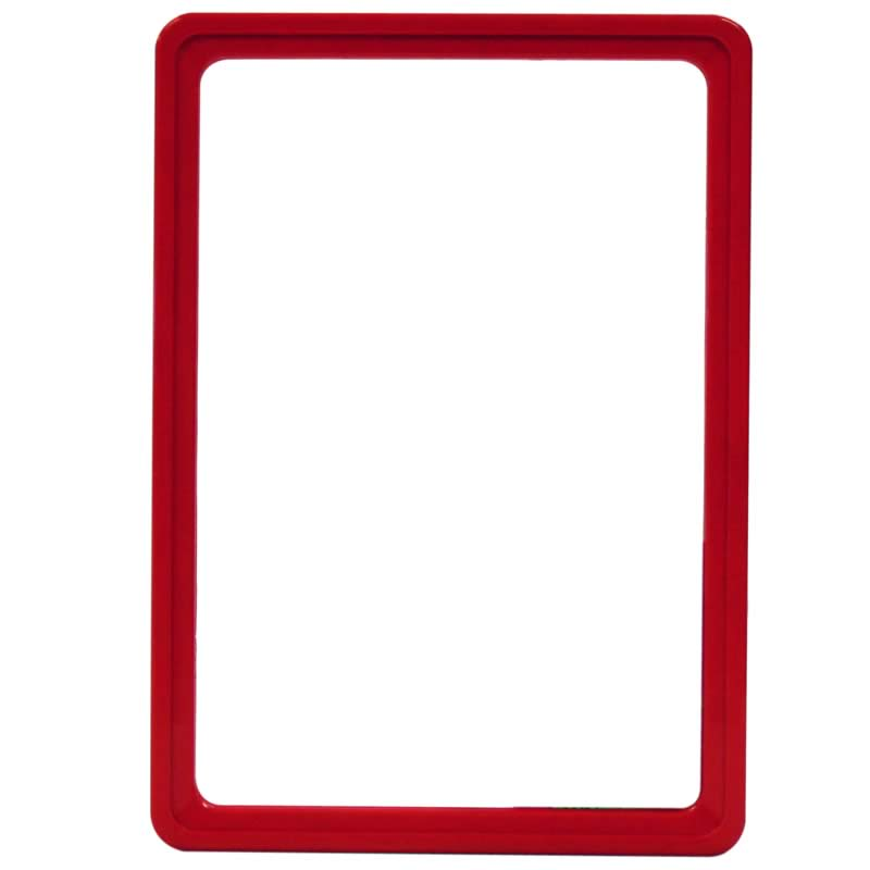 Display-Rahmen ohne PVC-Folie A5 rot