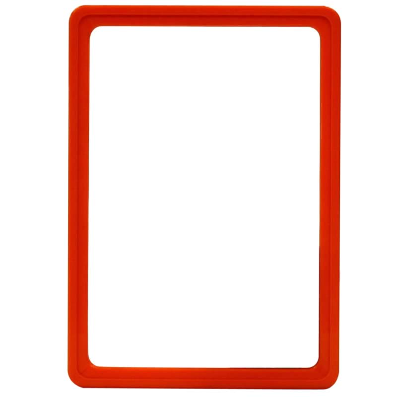 Display frame without pvc sheet A5 orange