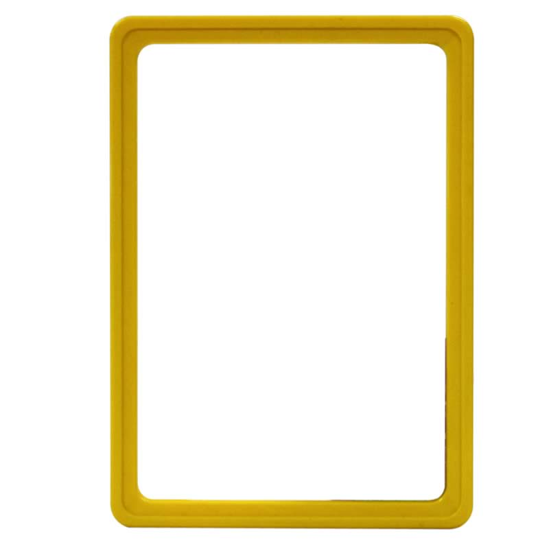Display frame without pvc sheet A5 yellow
