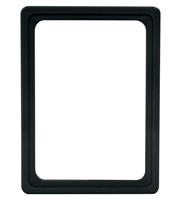 Presentatie raam A6 inschuif zonder sheets 105 x 148 mm zwart