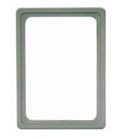 Presentatie raam A6 inschuif zonder sheets 105 x 148 mm grijs