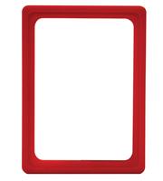 Presentatie raam A6 inschuif zonder sheets 105 x 148 mm rood