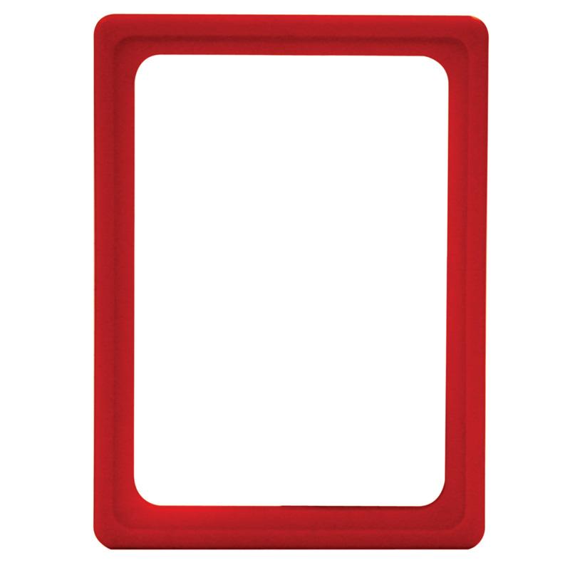 Display-Rahmen ohne PVC-Folie A6 rot