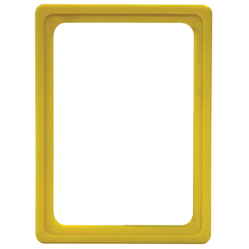 Display frame without pvc sheet A6 yellow
