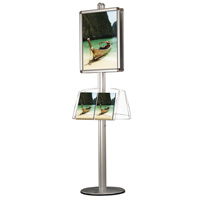 Freestanding display click frame A2 round