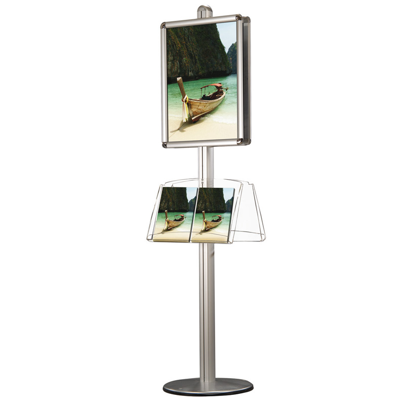30 mm snap frame A2 round corners for free standing display