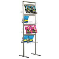Brochure set 24 x A4 folderhouders dubbelzijdig met vloerstaander