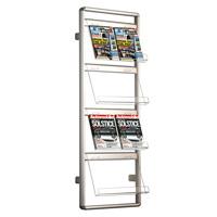 Brochure set voor muurbevestiging enkelzijdig met acrylaat folderhouders 8 x A4