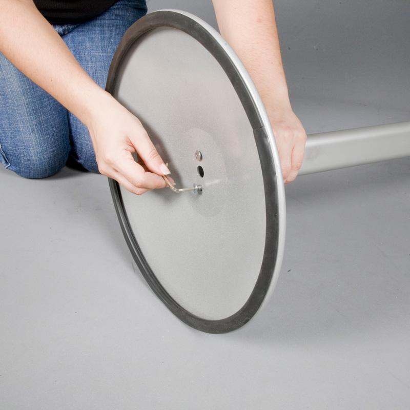Curved menuboard A3 silver