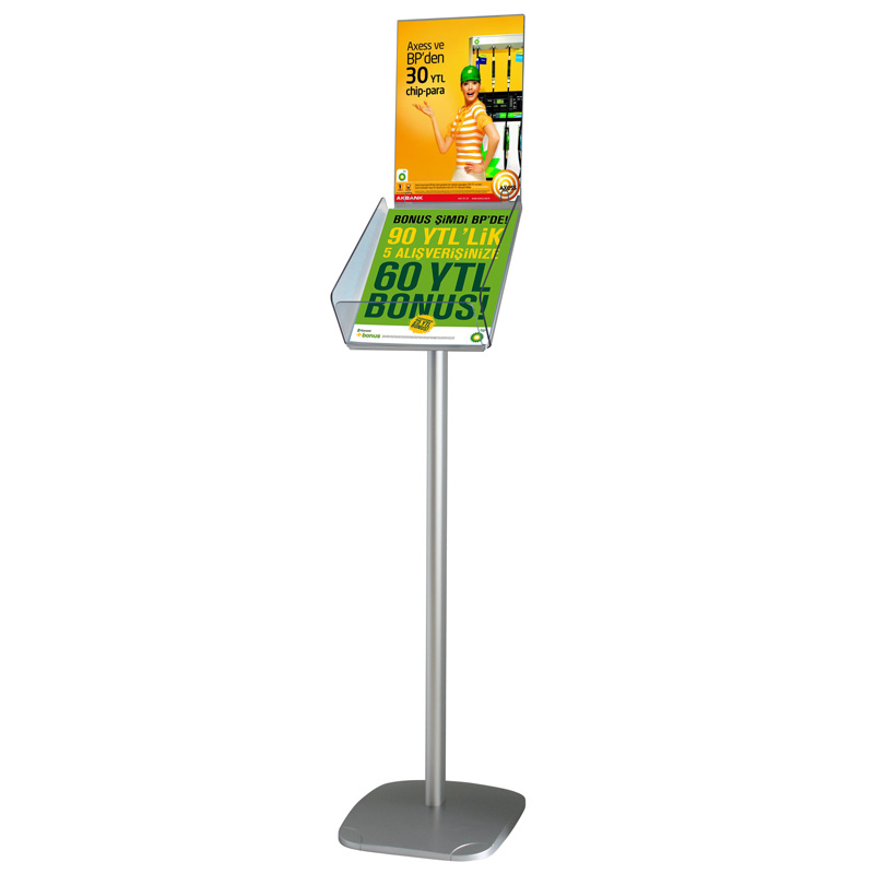 Decorative brochure stand plus portrait A4