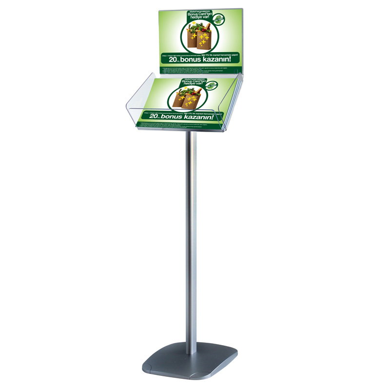 Decorative brochure stand plus landscape A4