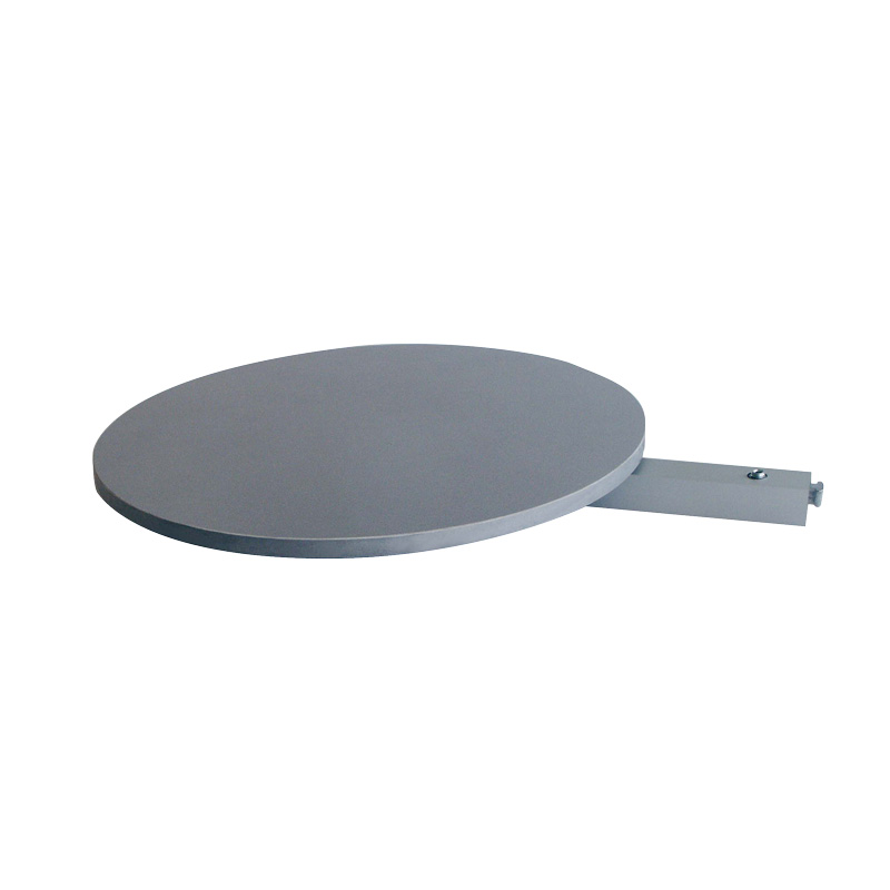 Round grey shelf for free standing pole diameter250mm