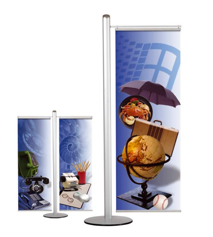 Freestanding banner set (Poster Fast) 400 mm wide