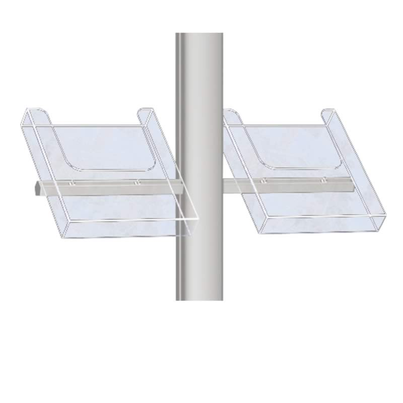 Clear side shelves for free standing 1ø3 A4