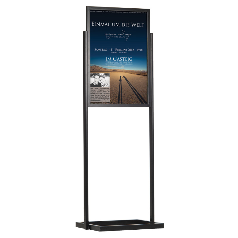 Eco infoboard single window double-sided B2