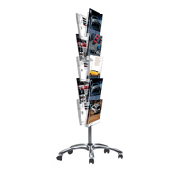 Multiside brochure set 2 on wheels silver