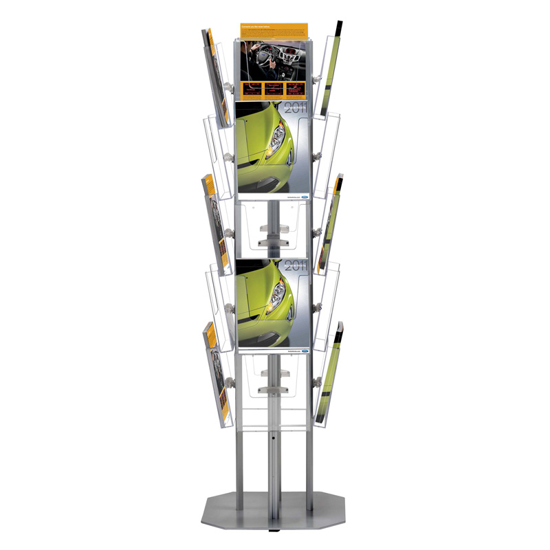 4-sided brochure holder frame
