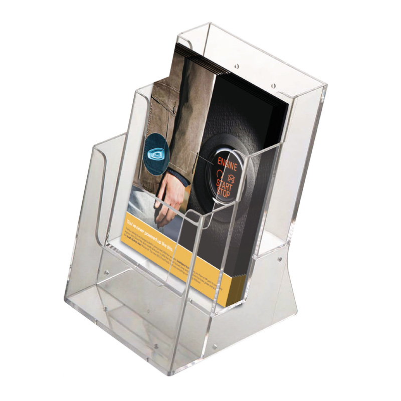 Multiple pocket leaflet dispenser A4 x 3