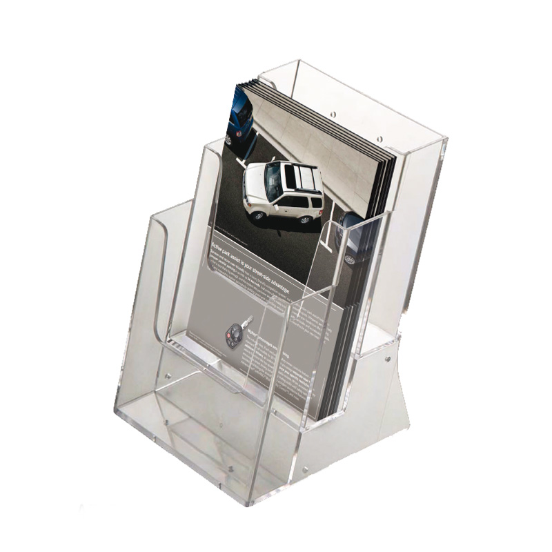 Multiple pocket leaflet dispenser A5 x 3
