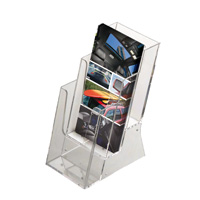 Multiple pocket leaflet dispenser 3 x 1/3 A4
