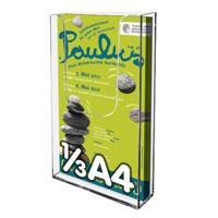 Brochure houders voor aan de muur 1/3 A4  60 stuks