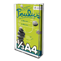 Leaflet dispenser for wall 1/3 A4