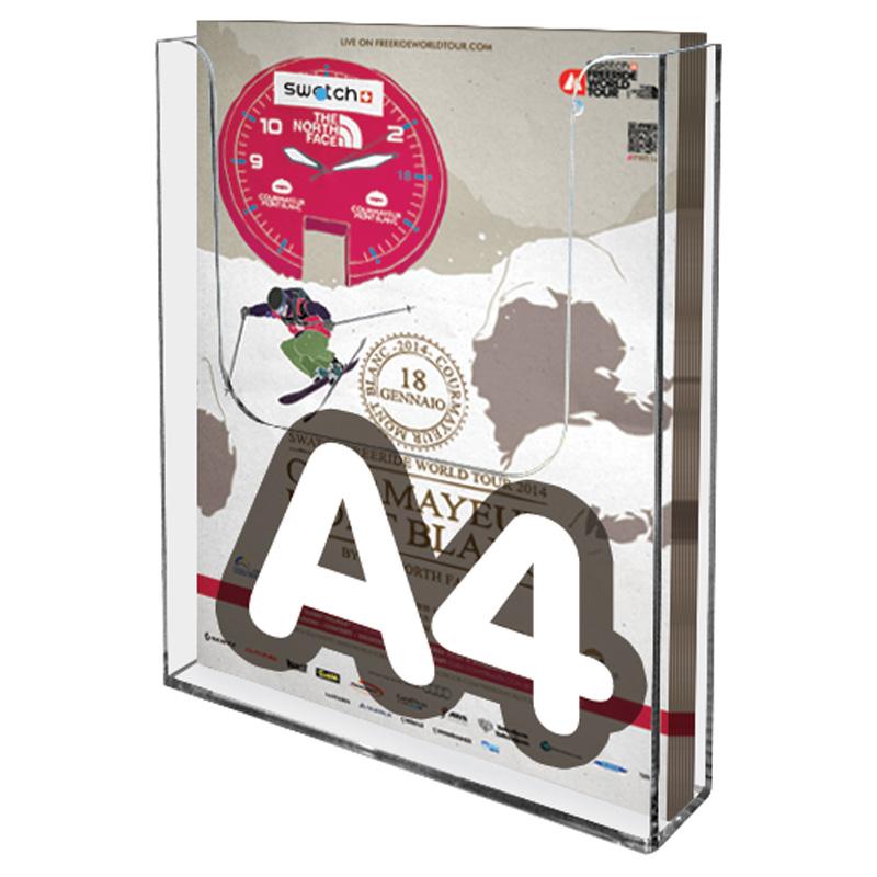 Wall brochure display A4